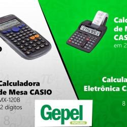 Calculadoras de Mesa e Portáteis