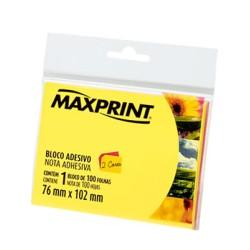 BLOCO ADESIVO MAXPRINT NEON 76MMX102MM 100 FLS