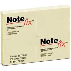 bloco  adesivo 38x50mm note fix 3M